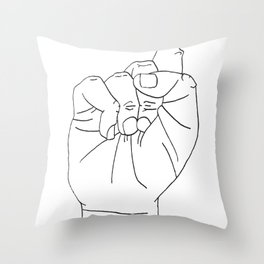 sign Language S Throw Pillow