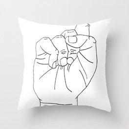 sign Language S Throw Pillow