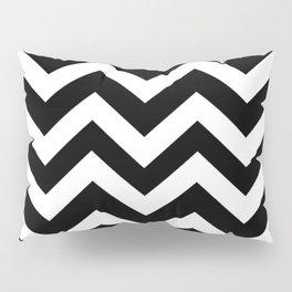 Registration black - black color - Zigzag Chevron Pattern Pillow Sham