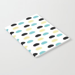 Blue and yellow polka dots Notebook