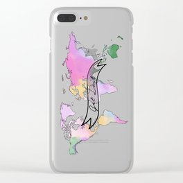 Get Lost and Travel Clear iPhone Case