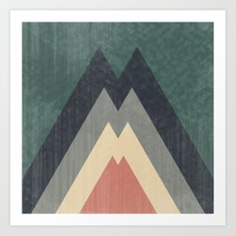 Mountains of Eden - Retro Arrows Art Print