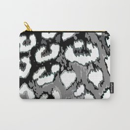 Black and White Leopard Spots Carry-All Pouch