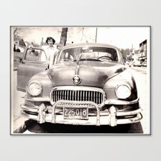 Mom and her Antique Car  Canvas Print