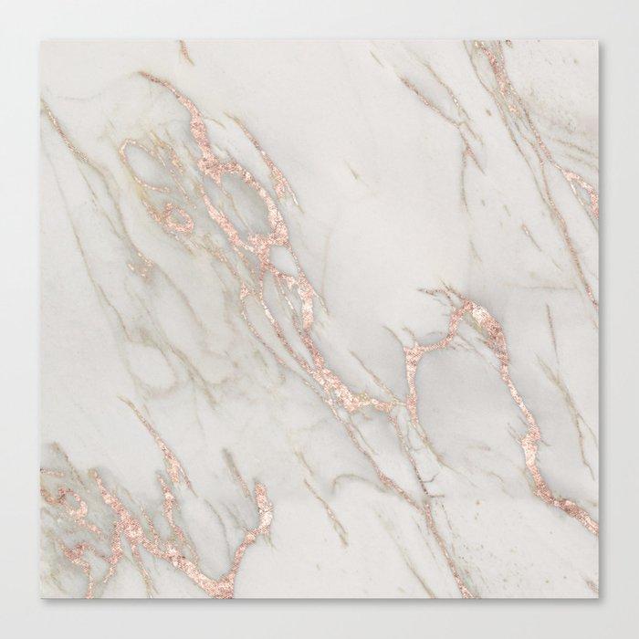 Marble Rose Gold Blush Pink Metallic by Nature Magick Leinwanddruck
