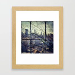 reflections in the city Framed Art Print