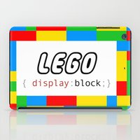pun iPad Cases featuring CSS Pun - Lego by iwantdesigns