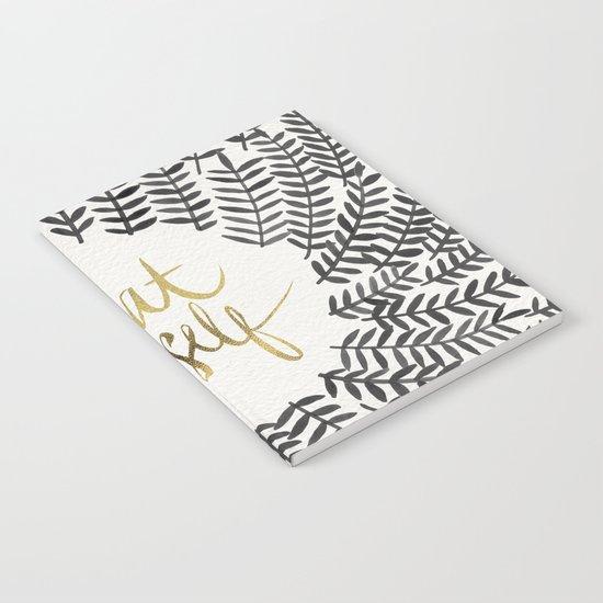 Treat Yo Self – Black & Gold Notebook
