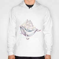 the whale Hoodies featuring whale by Ana Grigolia