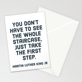 You don't have to see the whole staircase Stationery Cards