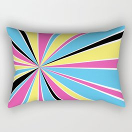 CMYK Star Burst Rectangular Pillow
