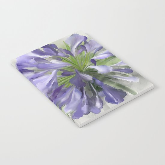 Blue purple flowers Notebook