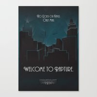 bioshock Canvas Prints featuring Bioshock by Will Crase