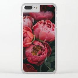 peonies #society6 #decor #buyart Clear iPhone Case