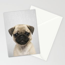 Pug Puppy - Colorful Stationery Cards