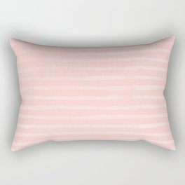 Simple Rose Pink Stripes Design Rectangular Pillow