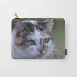 Naughty white cat Carry-All Pouch