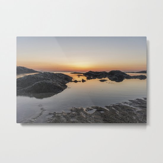 Spring Sunset at Plum Cove Beach Metal Print