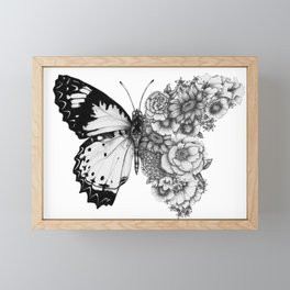 Butterfly in Bloom Framed Mini Art Print