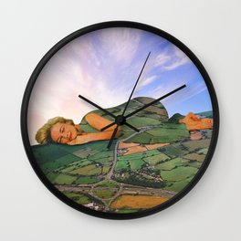 Wherever I lay my head that is my home Wall Clock