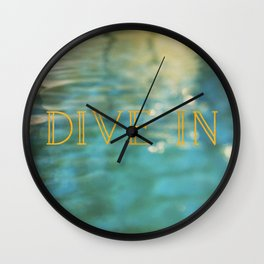 Dive In Wall Clock