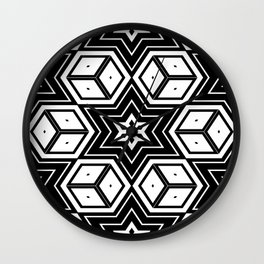 Starry Kaleidoscope Wall Clock