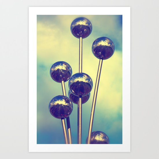 The world on balls Art Print