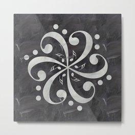 Music mandala on chalkboard Metal Print
