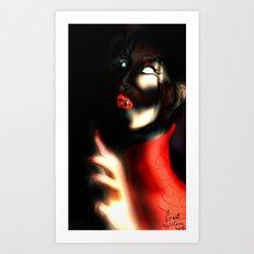 Red Art Art Print