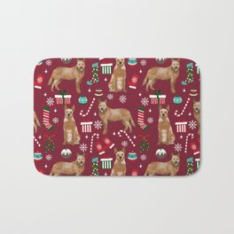 Australian Cattle dog christmas presents stockings candy canes winter dog breed lover Bath Mat