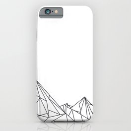 Night Court Mountain Design iPhone Case