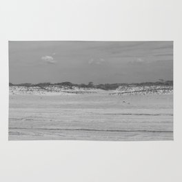 Dunes of Assateague Island (black and white) Rug