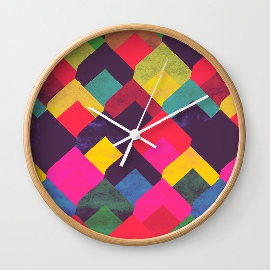 colour + pattern 11 Wall Clock