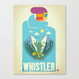 "Vintage Whistler ""Blue Bird"" Travel Poster Canvas Print"