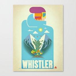 "Vintage Whistler ""Blue Bird"" Travel Poster Canvas Print"