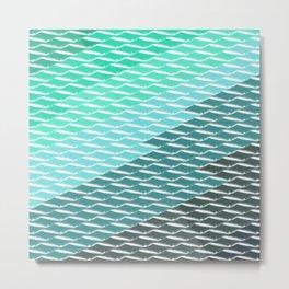 Flying Diamonds | sea reflections Metal Print
