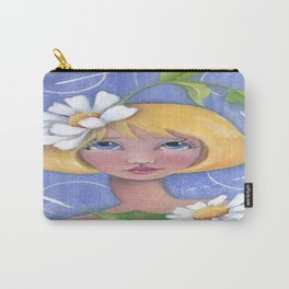 Whimiscal girl with Daisy's Carry-All Pouch