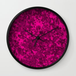 Hot Pink Hybrid Camo Pattern Wall Clock