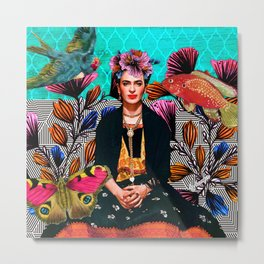 Frida´s secret smile Metal Print