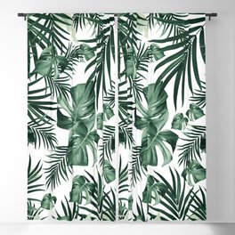 Tropical Jungle Leaves Pattern #4 (2020 Edition) #tropical #decor #art #society6 Blackout Curtain
