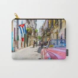 Colorful building streets in Cuba Carry-All Pouch