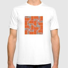 Wall Pattern Mens Fitted Tee White MEDIUM