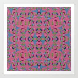 Layered Bulbs Pinwheels Art Print