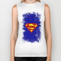superman Biker Tanks featuring Superman by Some_Designs