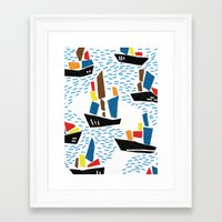 boats Framed Art Prints featuring boats by frameless