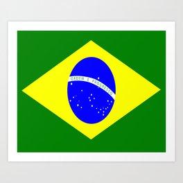 Flag of Brazil Art Print
