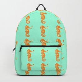Orange seahorses Backpack