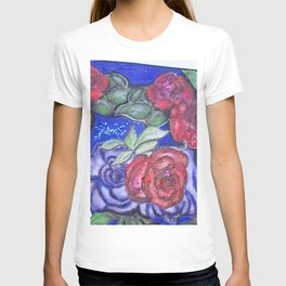 Roses And Blue T-shirt