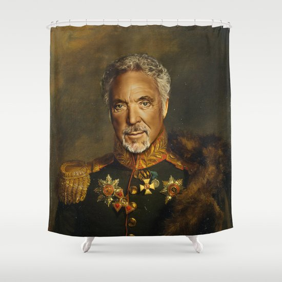 Sir Tom Jones - replaceface Shower Curtain