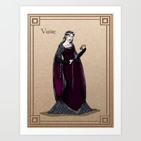 valar morghulis Art Prints featuring Vaire by wolfanita